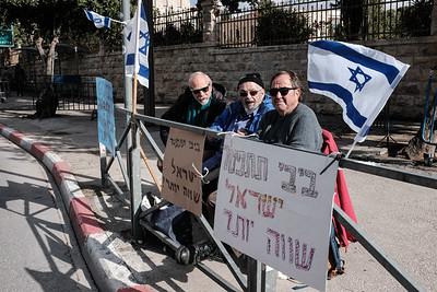 20200103 Protesting Netanyahu in Israel