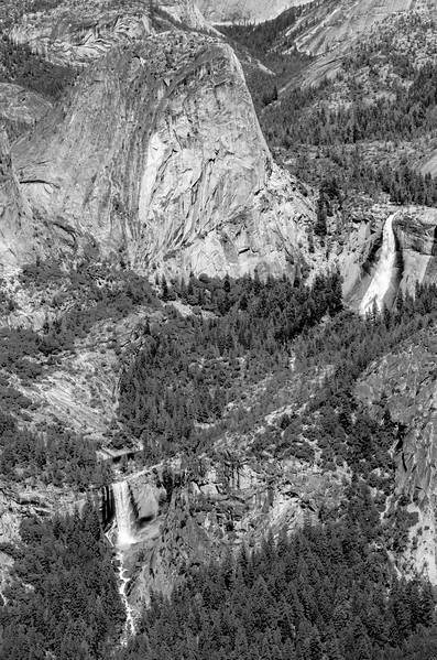 Vernal Fall, Nevada Fall, Liberty Cap