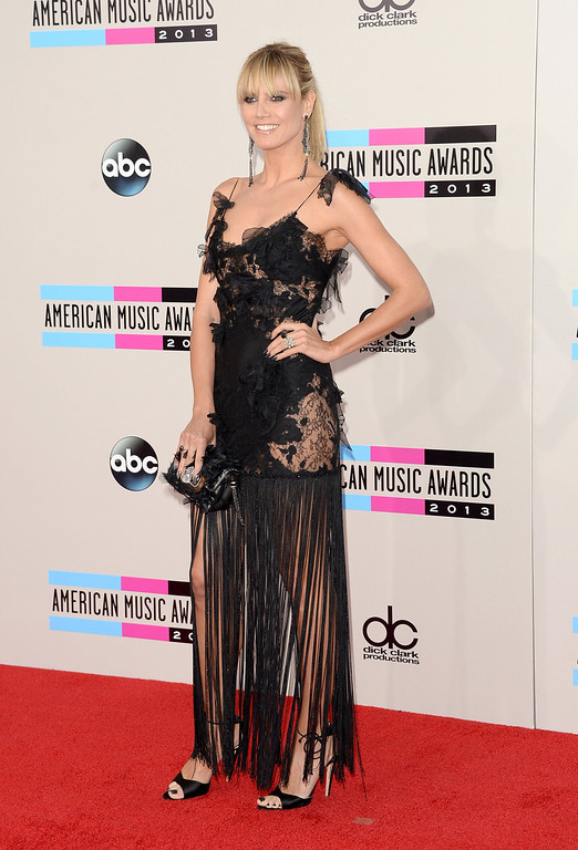 . TV personality Heidi Klum attends the 2013 American Music Awards at Nokia Theatre L.A. Live on November 24, 2013 in Los Angeles, California.  (Photo by Jason Merritt/Getty Images)