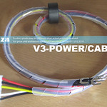 SKU: V3-POWER/CABLE/S, Power Cable from Power Supply to Motherboard with EMI Suppressor Ferrite Magnet Bead for V3-440/V3-740 V-Smart Vinyl Cutter