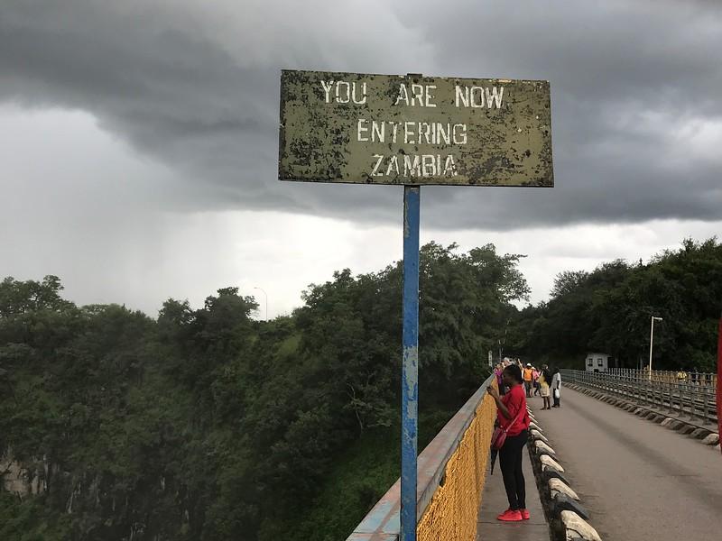 Old bridge spanning Zimbabwe and Zambia - Lisa Swenson