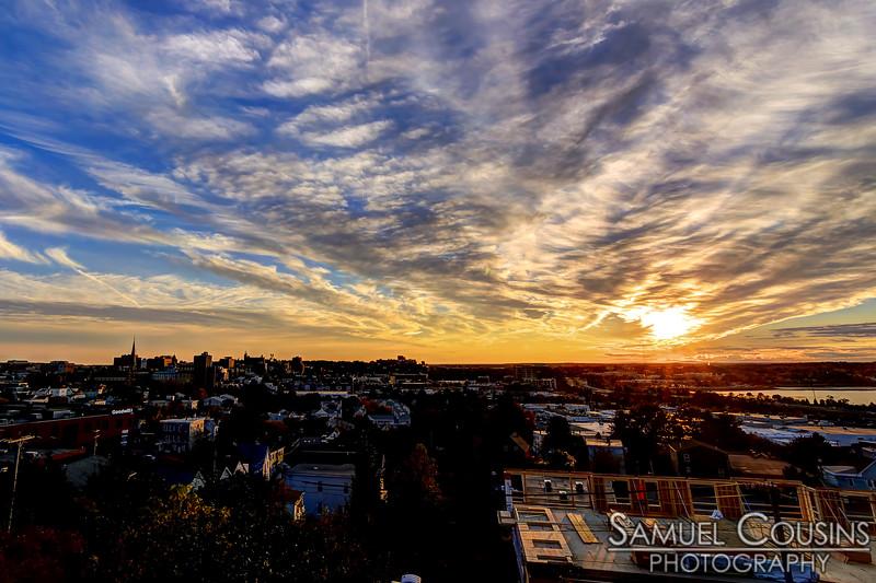 Sunset over Portland