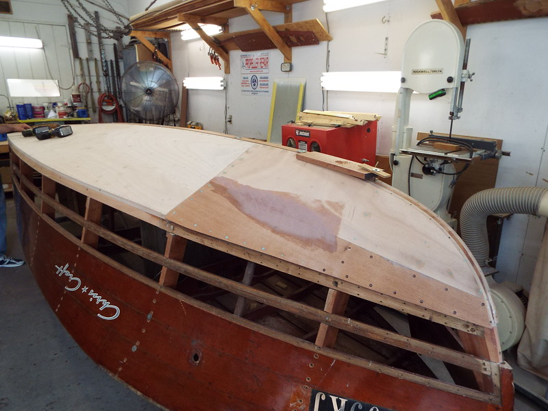 Front port view of the keel cap fit.