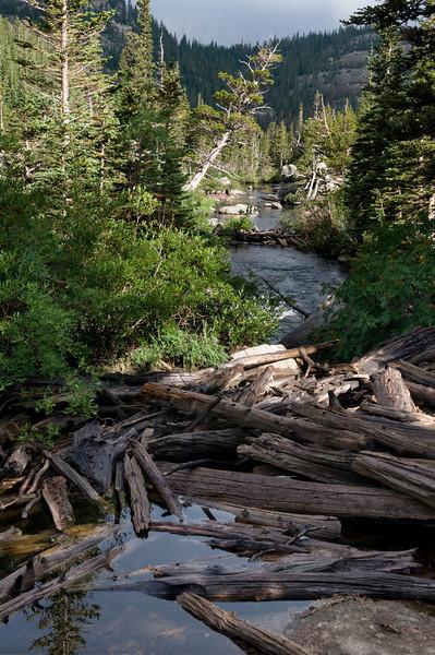 At Mills Lake, Rocky Mountain National Park, Colorado.