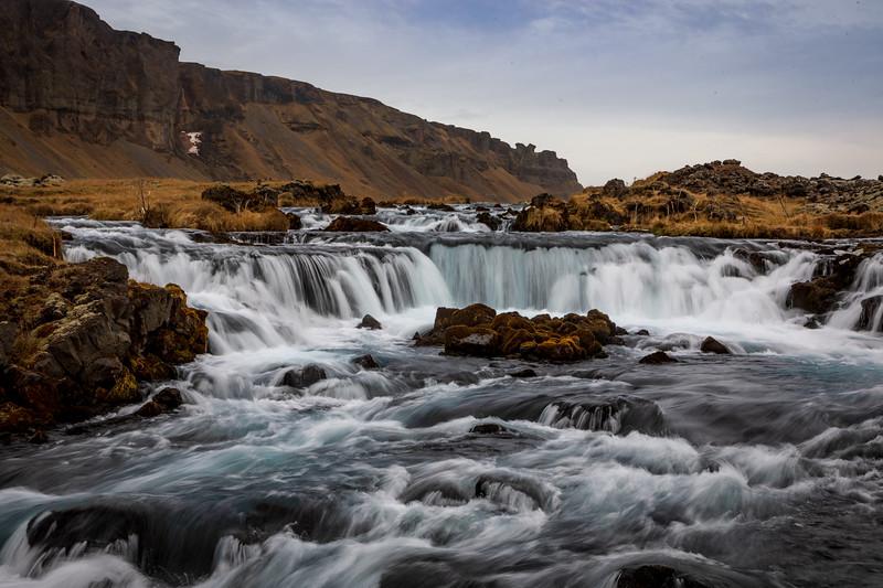 Highway Waterfall East Iceland
