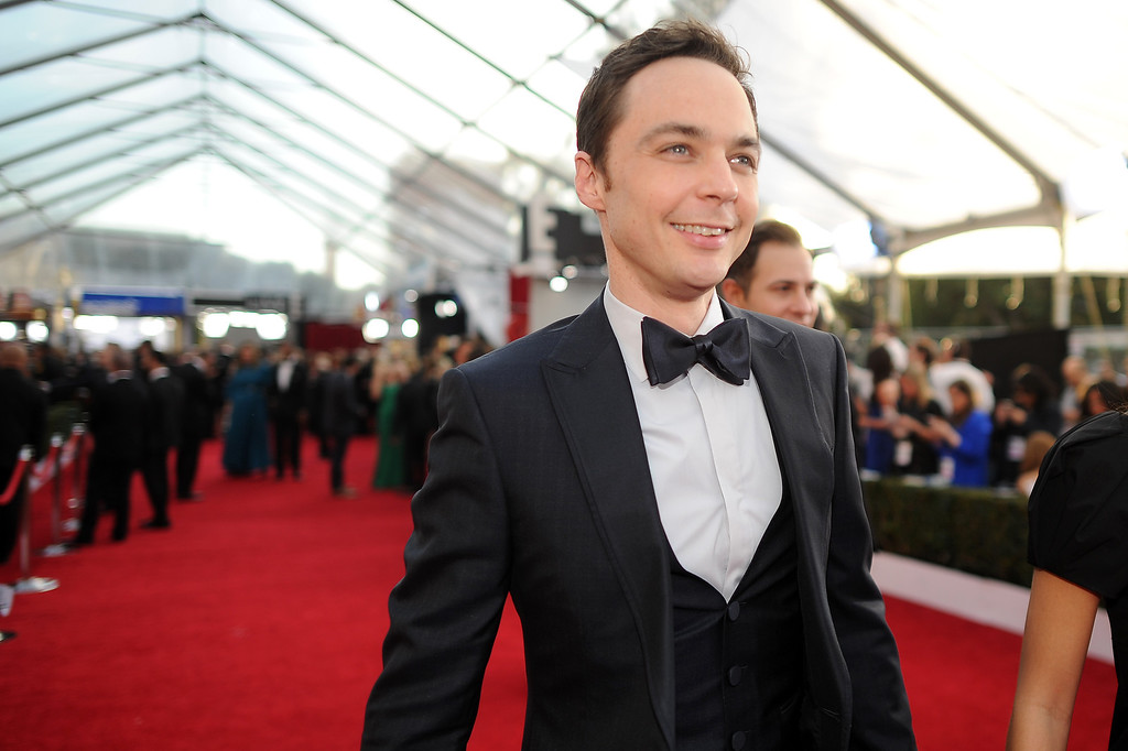 . Jim Parsons on the red carpet at the 20th Annual Screen Actors Guild Awards  at the Shrine Auditorium in Los Angeles, California on Saturday January 18, 2014 (Photo by Hans Gutknecht / Los Angeles Daily News)