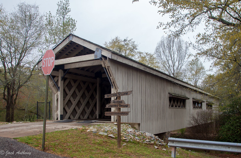 Covered bridge in Hurricane Shoals  County Park  in Maysville, Ga.