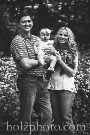 Lauren, Dustin & Claire B/W