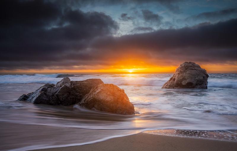 Garrapata Beach Sunset - Big Sur, CA
