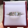 2.35ctw 7-Stone Step Cut Diamond Band 17