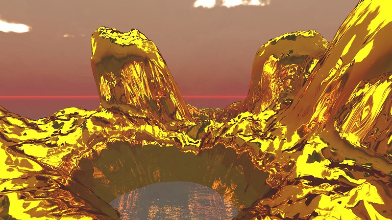 Gold Island 32 : A Computer Generated Image from Daily Animation