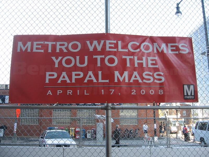 Banner at the Navy Yard Metrorail Station