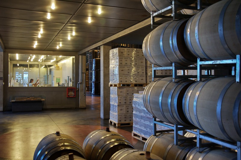 Laboratorio, barricas y almacenado