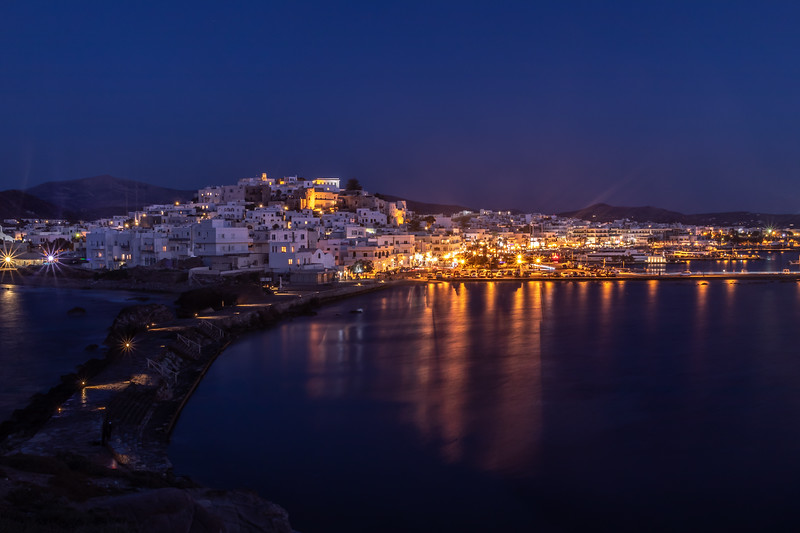 The port of Chora, Naxos