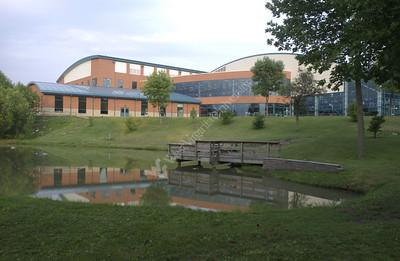 22263 CAMPUS SCENES recreation center at dusk
