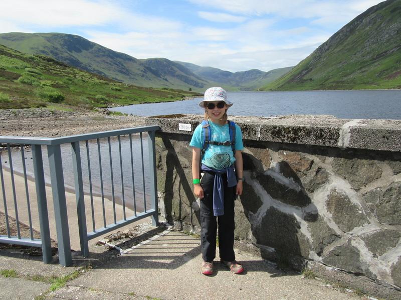 Ella looking cool at the dam