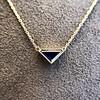 1.32ct Vintage Sapphire Bezel Necklace 4