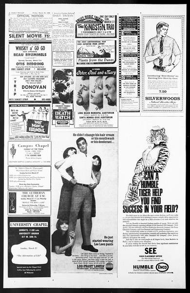 Daily Trojan, Vol. 57, No. 94, March 25, 1966
