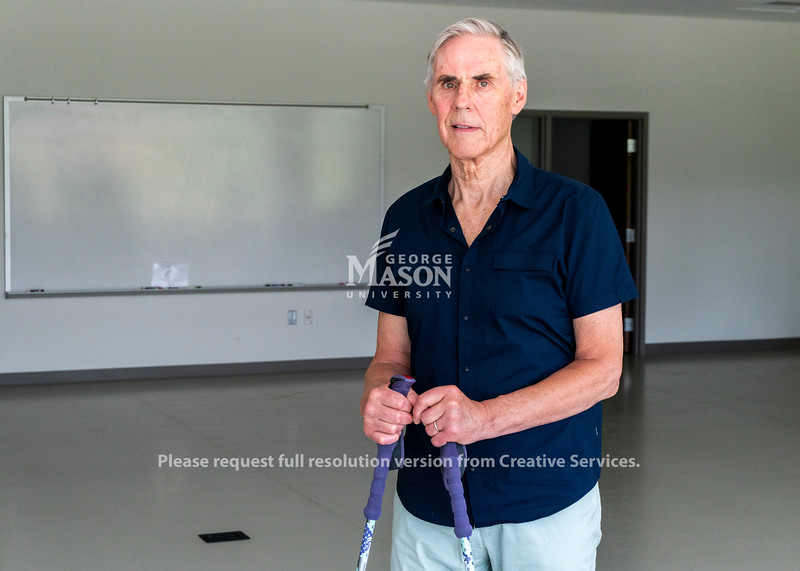 Rolf Ness participated in rehabilitation study at George Mason after suffering a spinal cord injury. Photo by Lathan Goumas/Strategic Communications