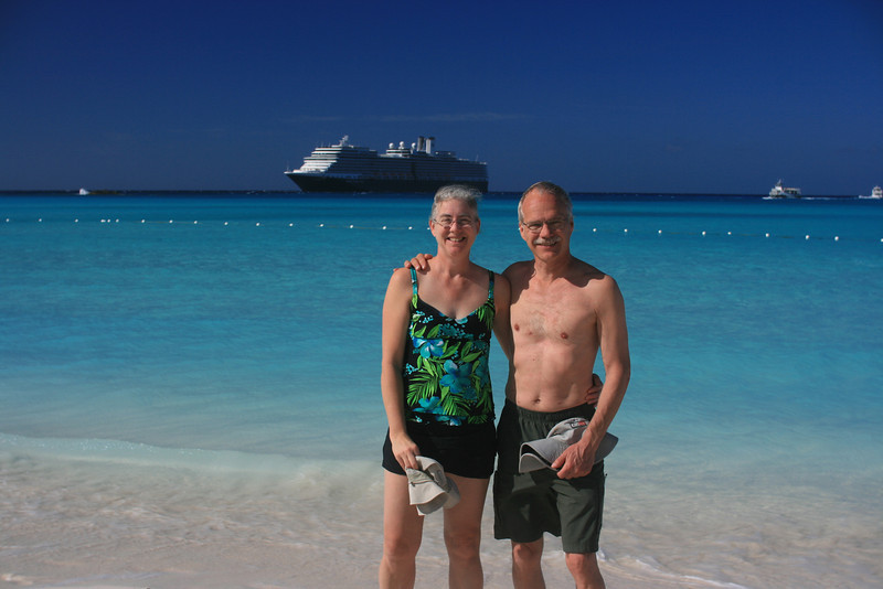 Holland America Eurodam at Half Moon Cay, Bahamas