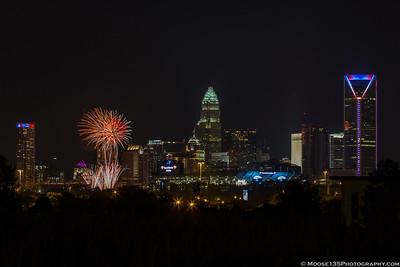 Charlotte Fireworks - July 4, 2016