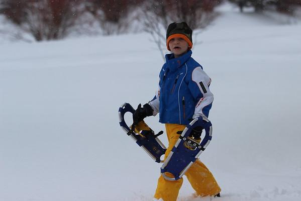 Lower school snowshoeing!