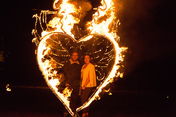 Holly & Tim in the Iscoyd Flaming Heart !
