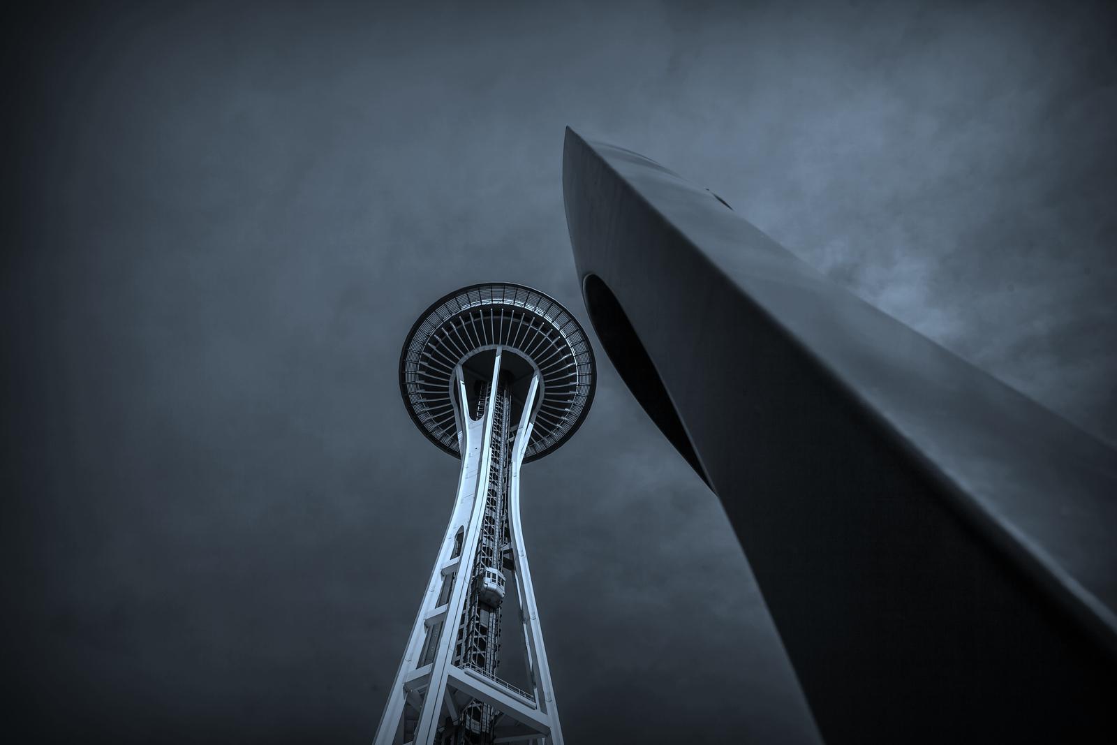 美国西雅图,太空针塔的英姿