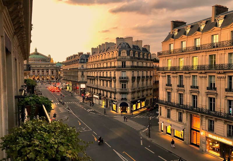 View from our hotel room (Palais Garnier Opera House at the end of the street)