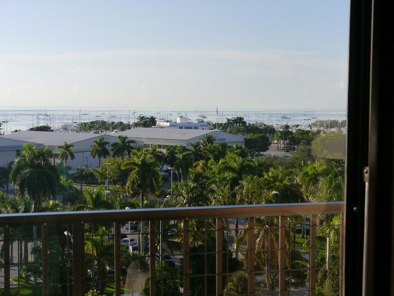View from our hotel in Coconut Grove, Floride