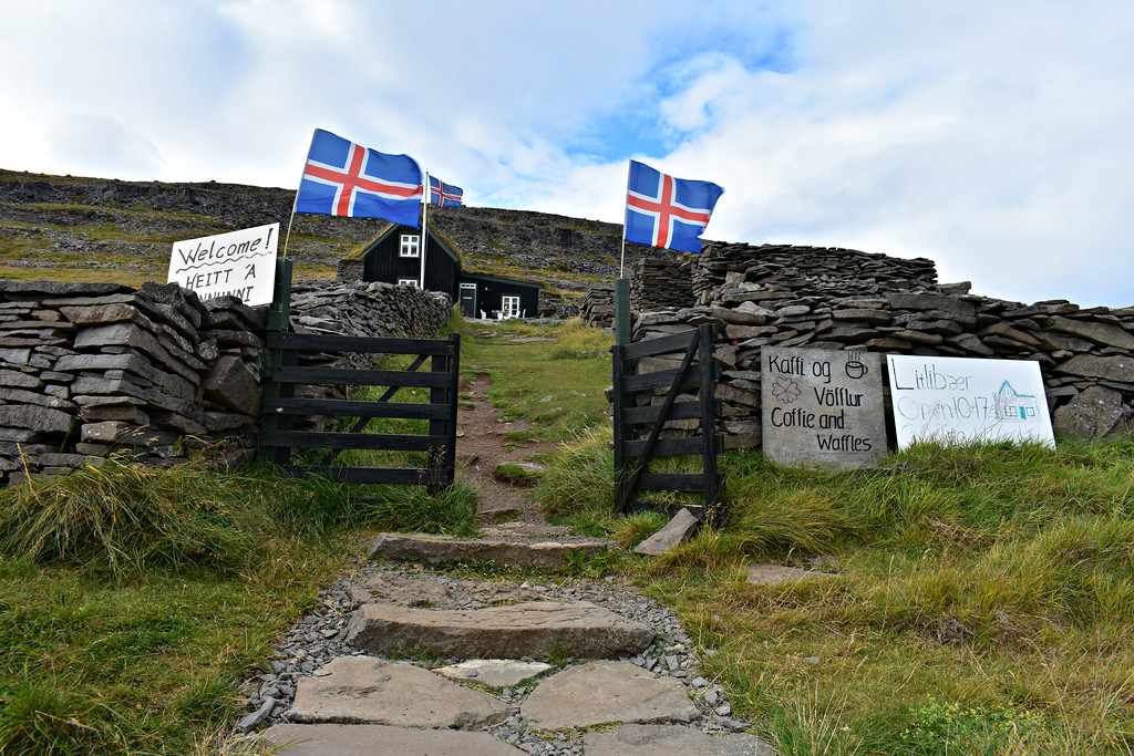 Litlibær Cafe and museum in West Fjords Iceland