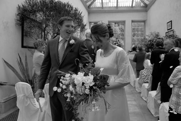 wedding of mike and harriett handy in the orangery at dyrham park near bath