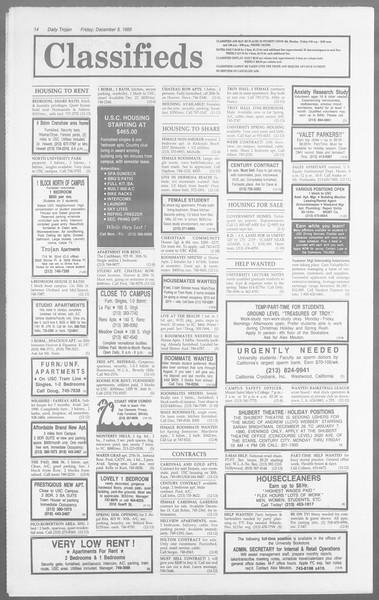 Daily Trojan, Vol. 110, No. 65, December 08, 1989