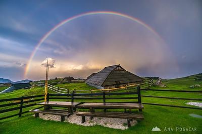 Rainbow on Velika planina - Jul 18, 2016