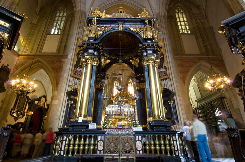 Poland, Cracow, Wawel Cathedral interior