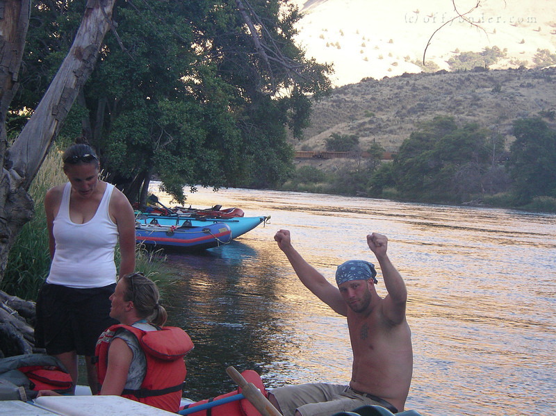 Mark celebrates a well deserved victory after a solid day on the river.