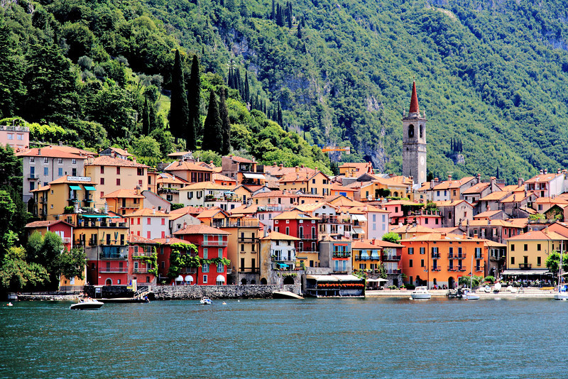 The town of Varenna on Lake Como.