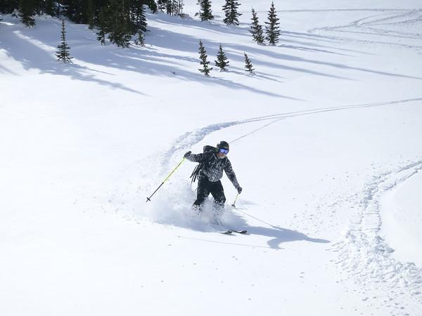 Backcountry Skiing, RMNP Lake Haiyaha, Feb 2014