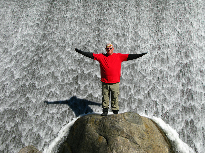 Nathan below the dam