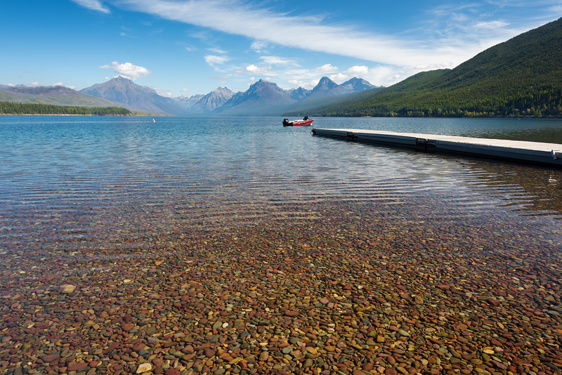 The Lake McDonald view at Glacier National Park is amazing