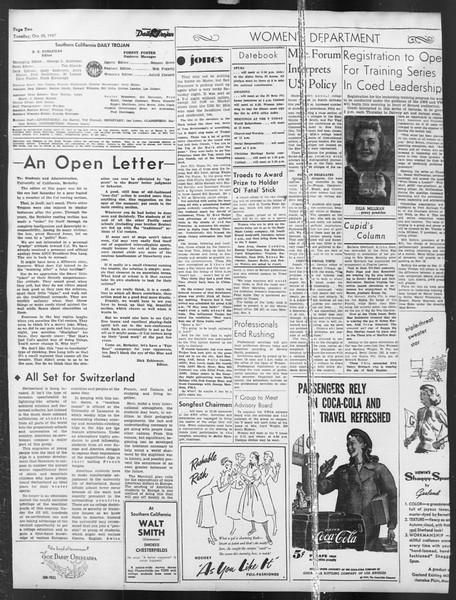 Daily Trojan, Vol. 39, No. 32, October 28, 1947