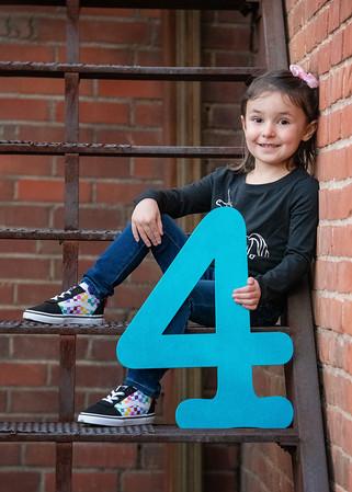 Natalie turns 4