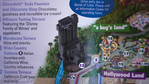 Disneyland Resort, Disney California Adventure, Guide Map, Guide, Map, Twilight Zone Tower Of Terror, Tower Of Terror, Guardians of the Galaxy Mission Breakout, Guardians, Galaxy, Mission, Breakout