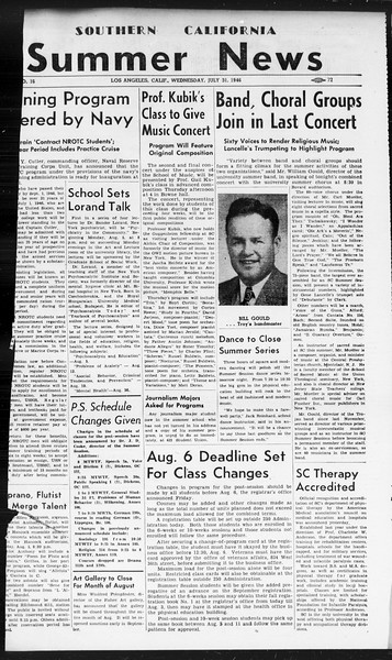 Summer News, Vol. 1, No. 16, July 31, 1946