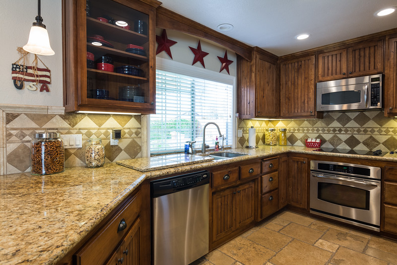 Custom kitchen with Granite counters