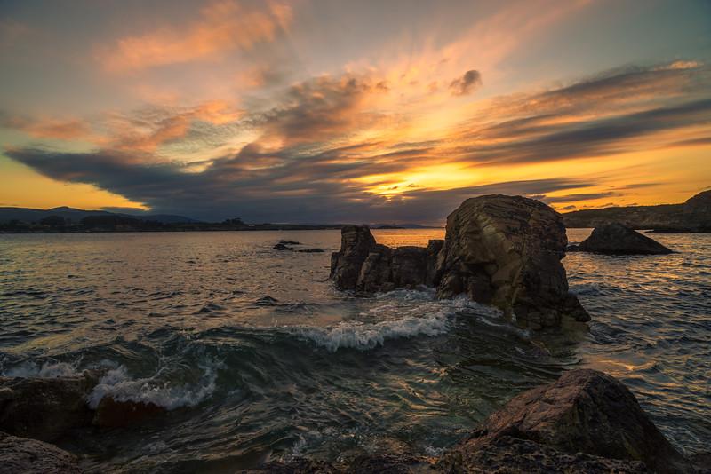 La Isla Pancha desde Arnao. Ribadeo