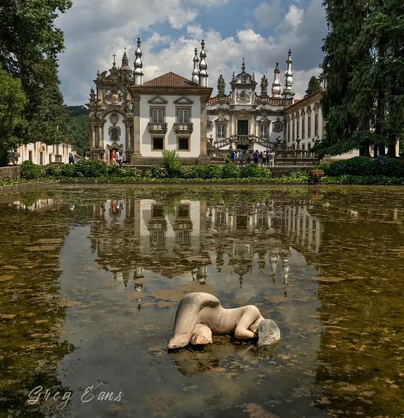 The baroque Mateus Palace (Casa de Mateus), located in the civil parish of Mateus, municipality of Vila Real, Portugal. Home of the last Count of Vila Real. Built in the first half of the 18th century.
