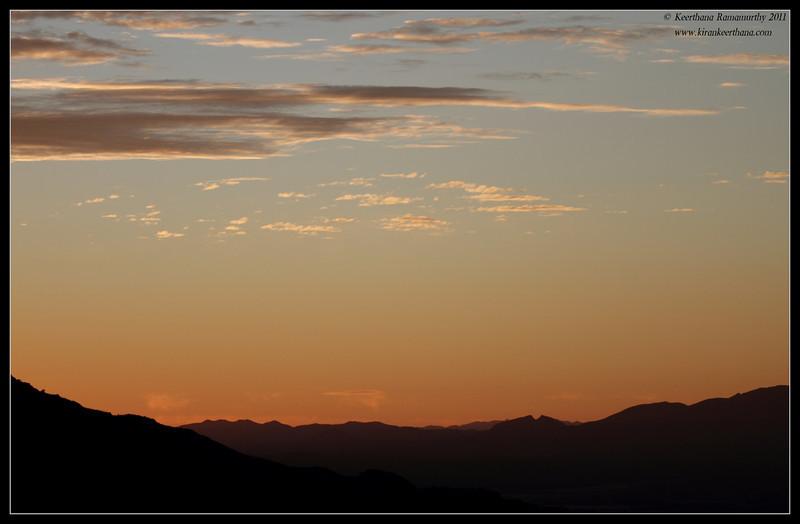 View of Green Valley from Proctor Road Trail at sunset, Madera Canyon, Arizona, November 2011
