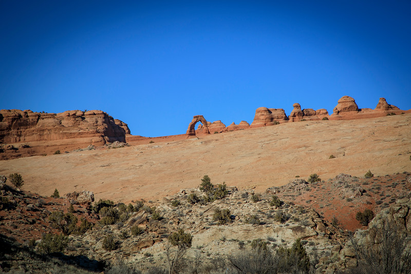Delicate Arch from the Upper Viewing Area in Arches NP