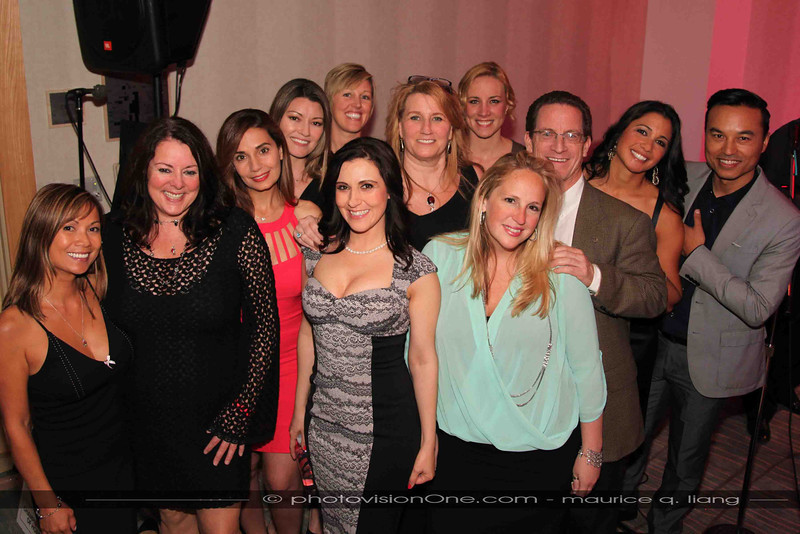 """Catherine Sampognaro (center) and her team for """"The Cure at the Clement"""". April 25, 2014, for the Leukemia & Lymphoma Society."""